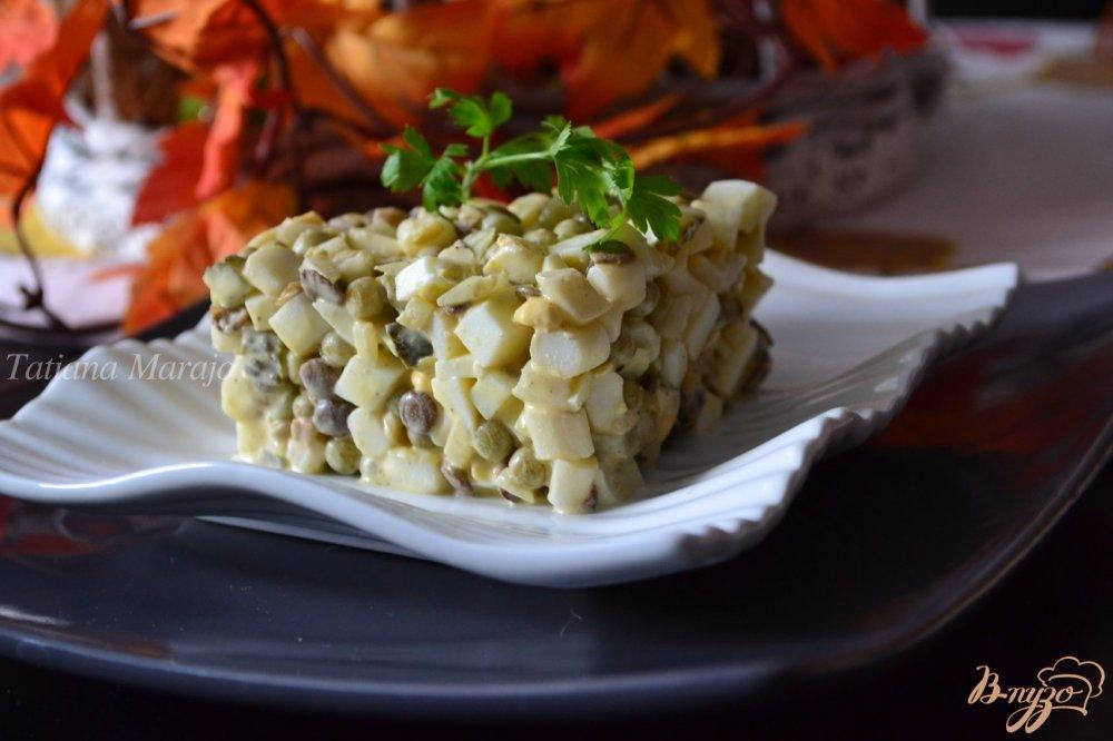 Фото приготовление рецепта: Салат с кальмарами шаг №4