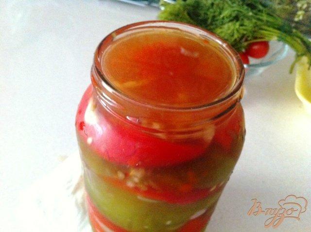 Фото приготовление рецепта: Маринованный перец с чесноком на зиму шаг №5