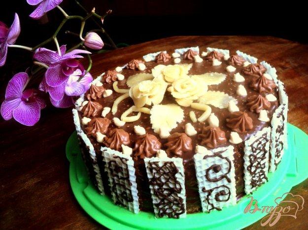 Рецепт Шоколадный торт с вафельным кремом
