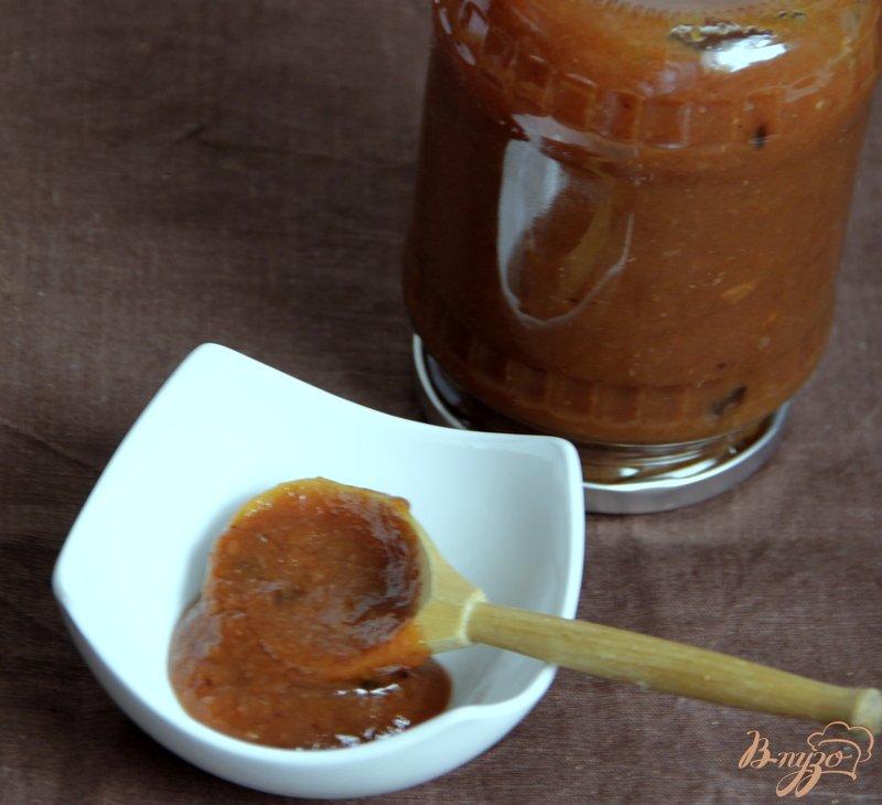 Фото приготовление рецепта: Китайский пряный соус из слив шаг №6