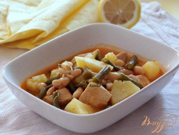 Рецепт Гуляш с индейкой и фасольками