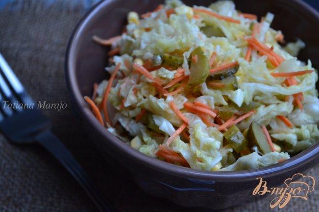 Рецепт Капустный салат с маринованным огурчиком