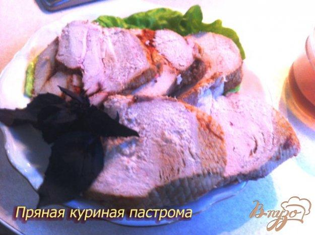 Рецепт Пастрома пряная из куриного филе