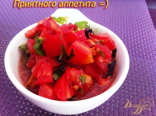Фото приготовление рецепта: Сальса из помидор и зелени шаг №6