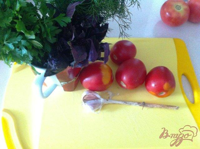 Фото приготовление рецепта: Сальса из помидор и зелени шаг №1