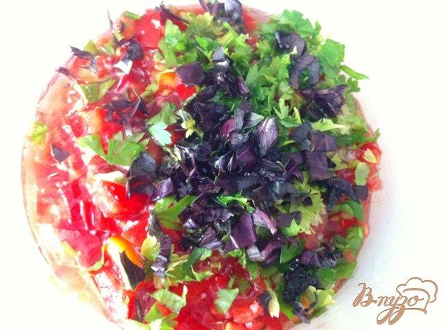 Фото приготовление рецепта: Сальса из помидор и зелени шаг №5