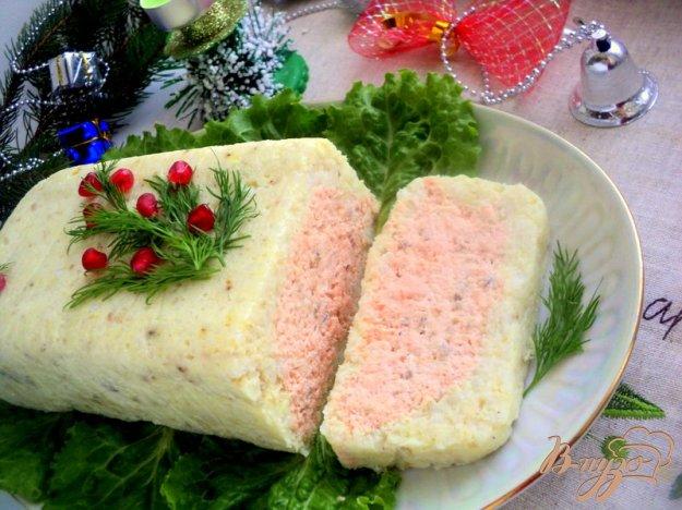 фото рецепта: Террин из красной и белой рыбы
