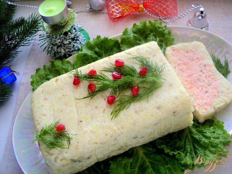 Фото приготовление рецепта: Террин из красной и белой рыбы шаг №11