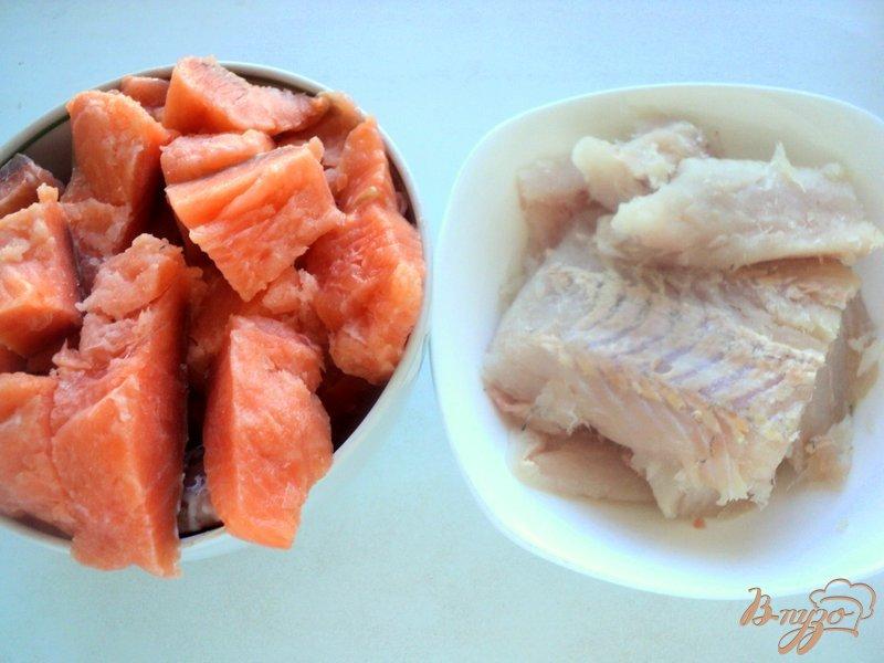 Фото приготовление рецепта: Террин из красной и белой рыбы шаг №1
