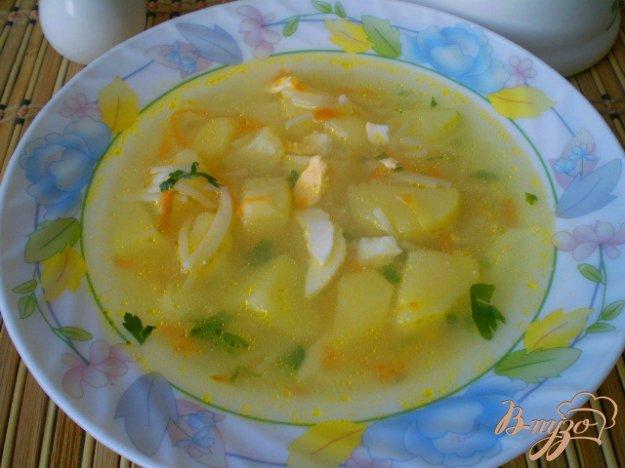 фото рецепта: Суп с вареными яйцами