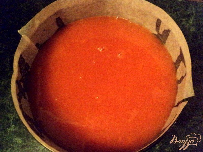 Фото приготовление рецепта: Торт с тыквенным желе шаг №6