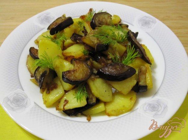 Рецепт Жареный картофель с баклажанами