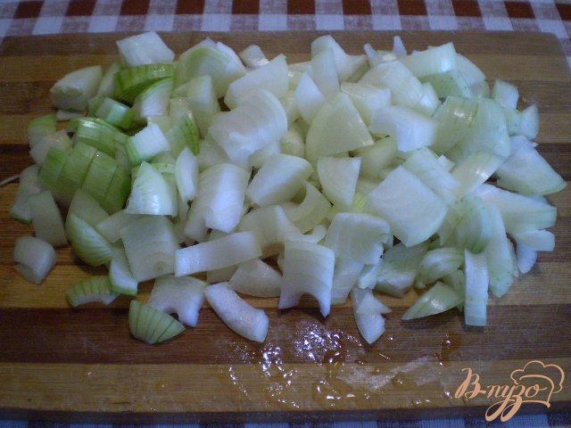 Фото приготовление рецепта: Тушенные зеленые помидоры с луком шаг №2