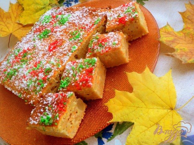 Рецепт Морковный пряный пирог с фруктами