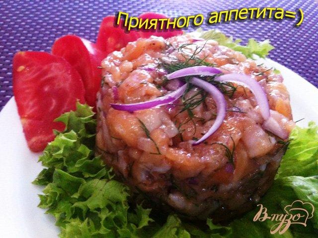 Фото приготовление рецепта: Тартар из сёмги шаг №8
