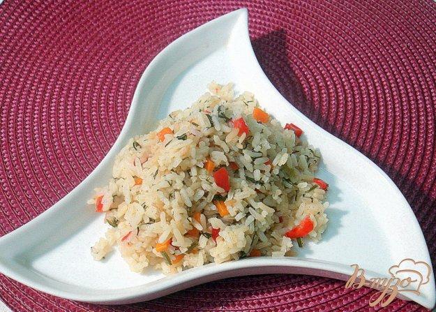 Рецепт Рис с перцем, морковью и укропом