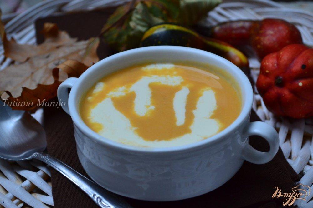 Фото приготовление рецепта: Суп из тыквы  с нутом шаг №5