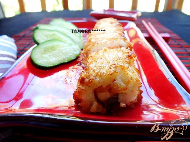 Рецепт Рисовые зразы с рыбо1