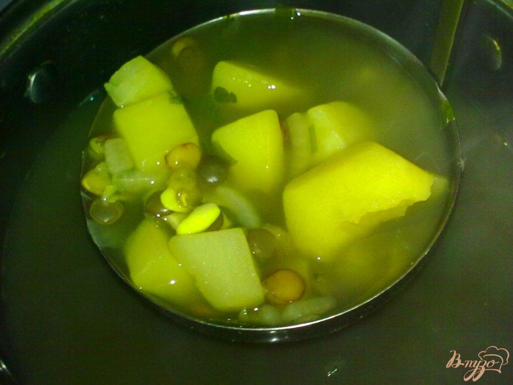 Фото приготовление рецепта: Суп с чечевицей