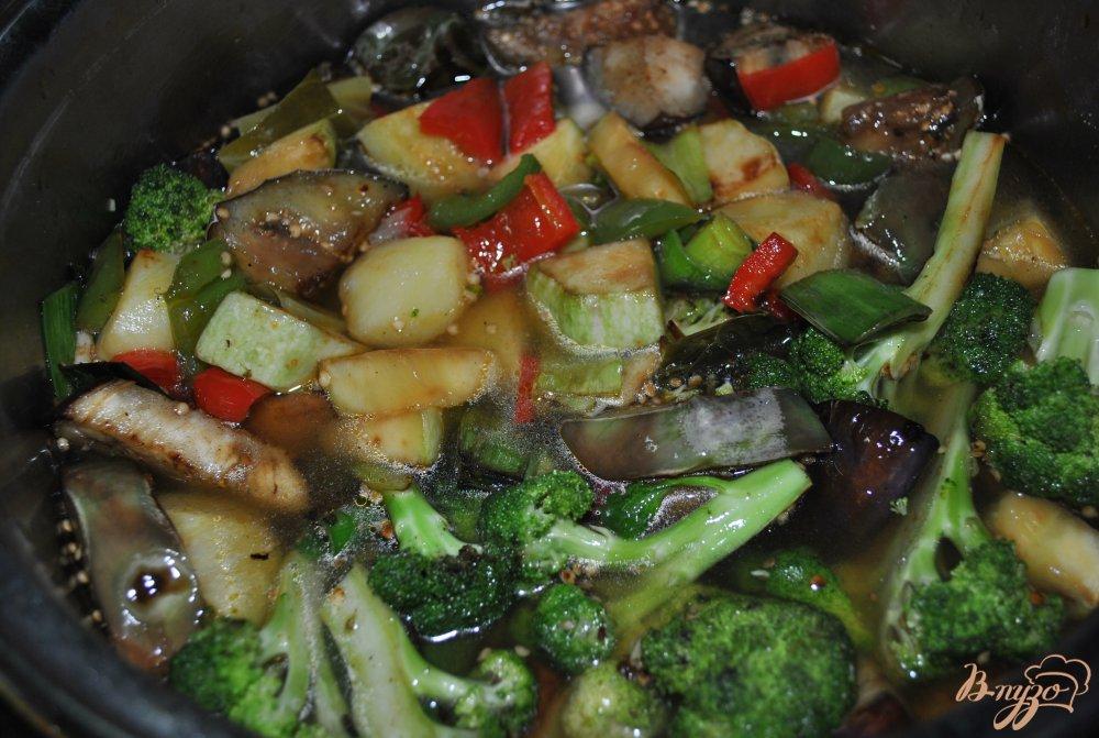Фото приготовление рецепта: Овощное рагу с брокколи шаг №9