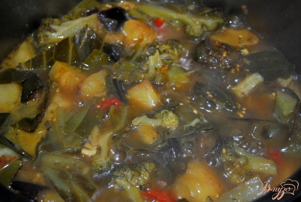 Фото приготовление рецепта: Овощное рагу с брокколи шаг №11