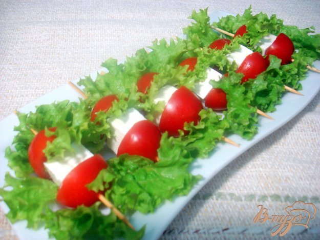Рецепт Закуска из сыра и помидоров