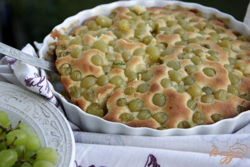 Фото приготовление рецепта: Итальянский виноградный пирог шаг №6