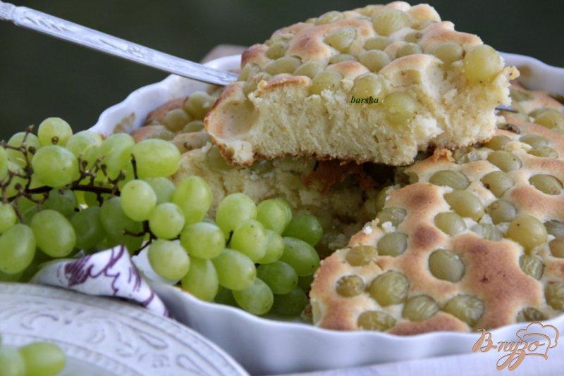 Фото приготовление рецепта: Итальянский виноградный пирог шаг №7