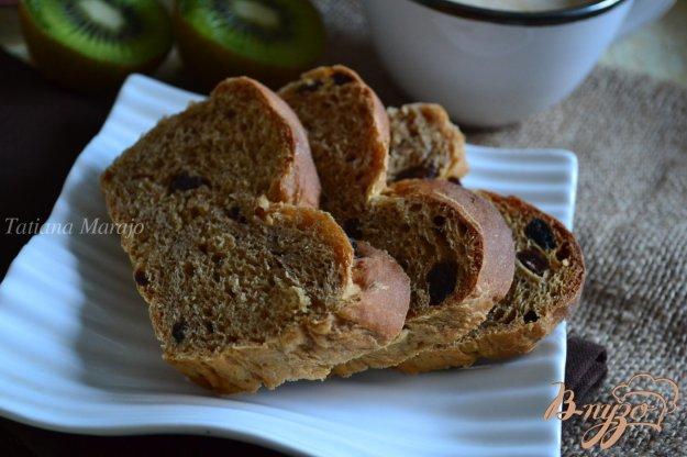 Рецепт Кофейный сладкий хлеб с изюмом