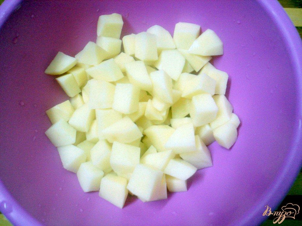 Фото приготовление рецепта: Грибной суп с сырочками шаг №3