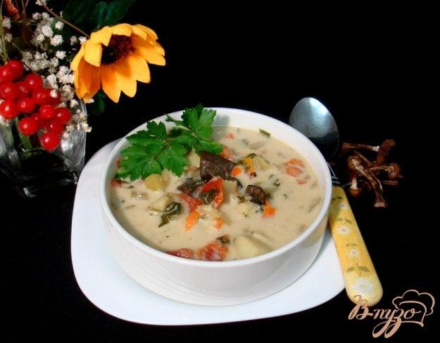 Рецепт Грибной суп с сырочками