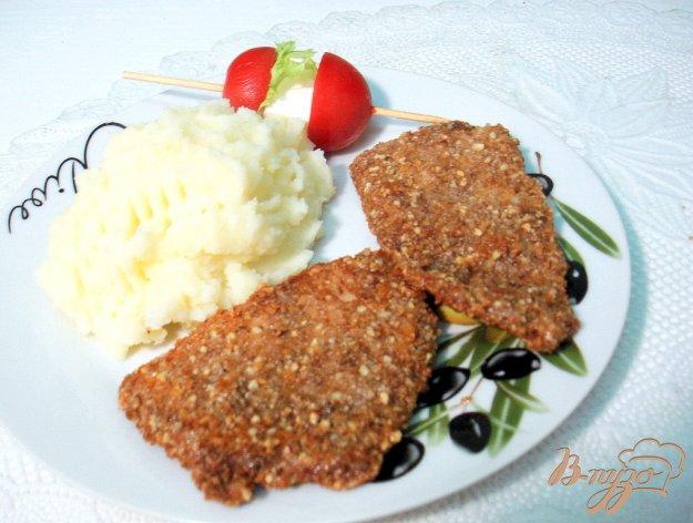 Рецепт Тилапия в ореховой панировке