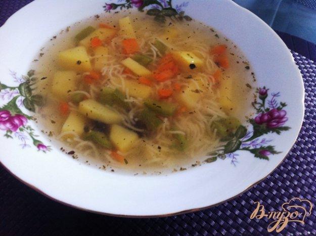 фото рецепта: Суп из ребрышек с вермишелью
