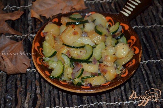 фото рецепта: Жареный картофель с цукини