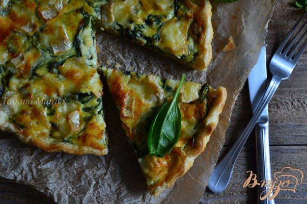 Рецепт Киш со шпинатом и тремя сортами сыра