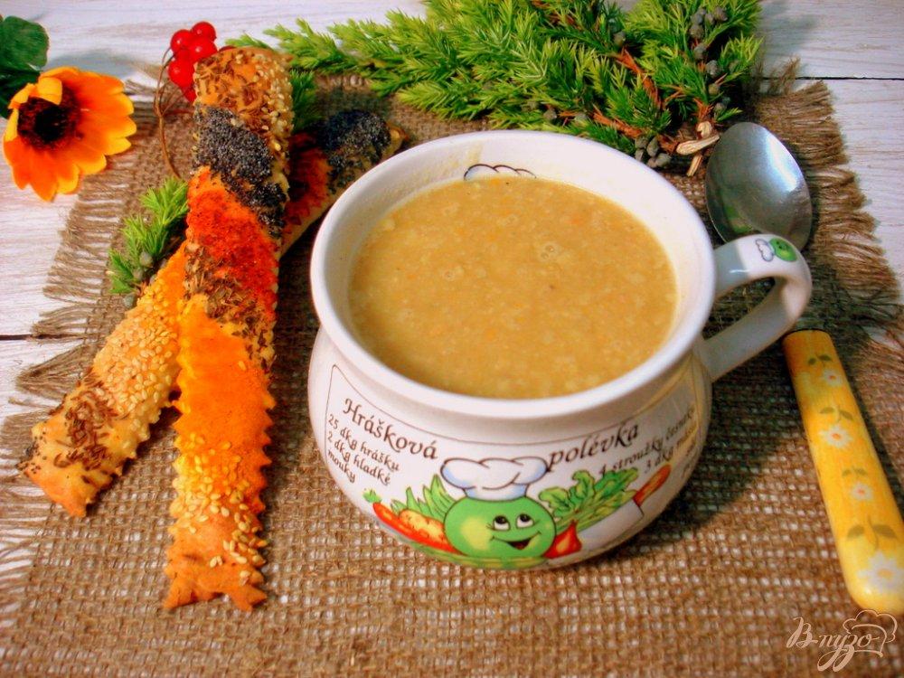 Фото приготовление рецепта: Гороховый суп пюре с копчёной колбасой шаг №10
