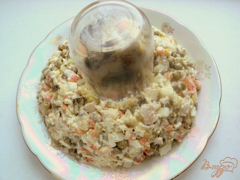 Фото приготовление рецепта: Салат «Оливье новогодний» шаг №4