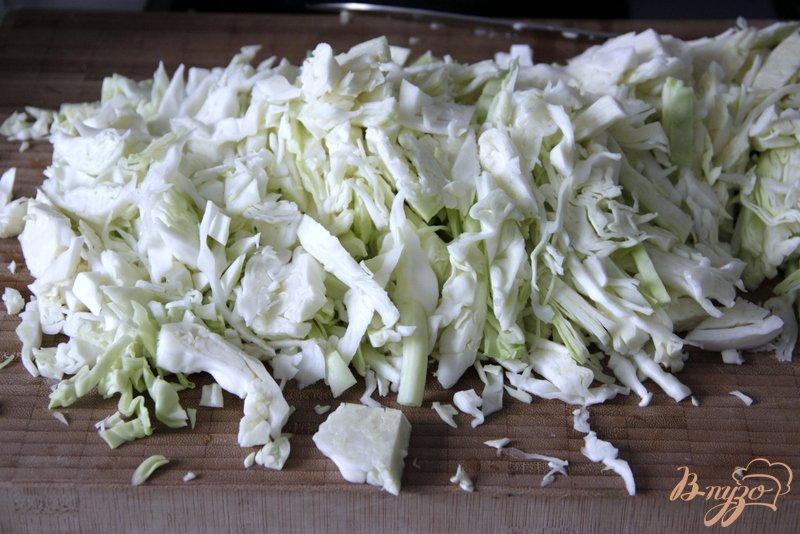 Фото приготовление рецепта: Луковый суп с капустой шаг №3