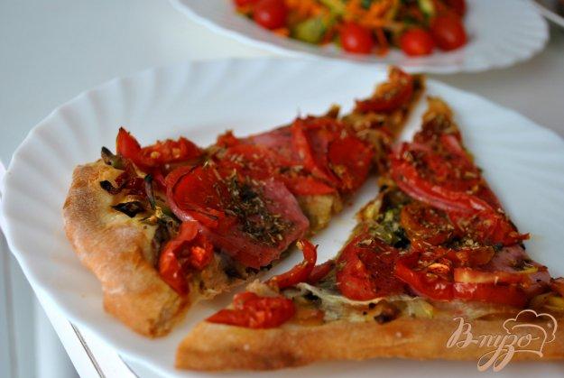 Рецепт Овощная пицца с колбаской