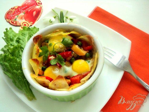 Рецепт Картофельная корзинка с овощами и ветчиной