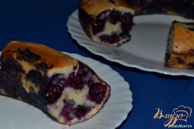 Рецепт Сливочный кекс с горьким шоколадом и виноградом