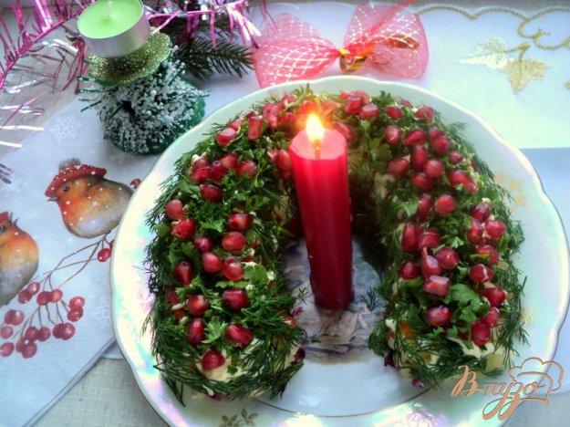 Рецепт Салат «Гранатовая подкова»