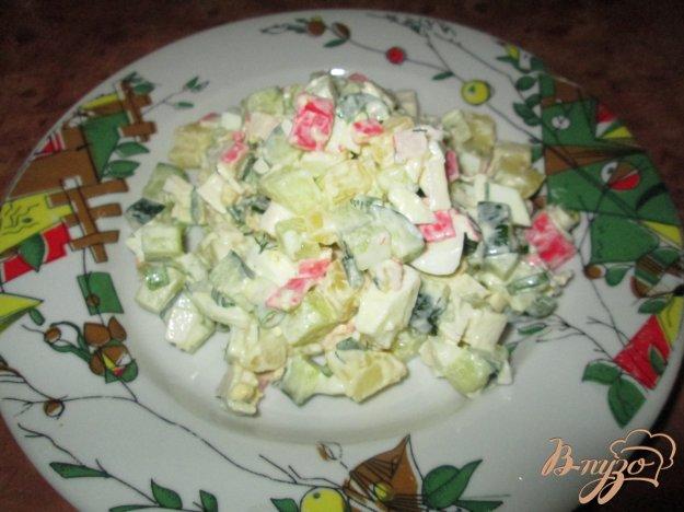Рецепт Салат с крабовыми палочками, картофелем и огурцом