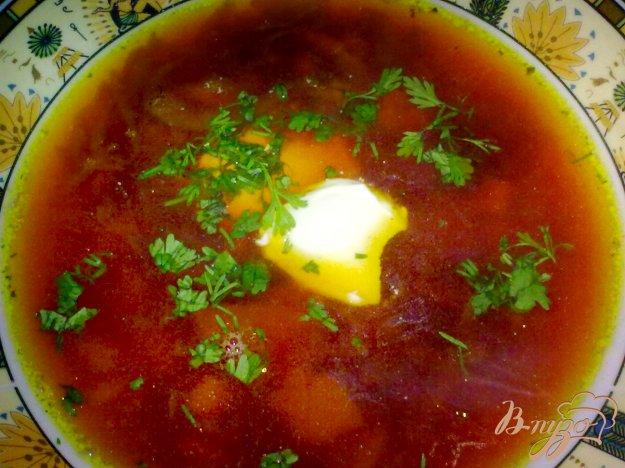Рецепт Борщ с бобовыми
