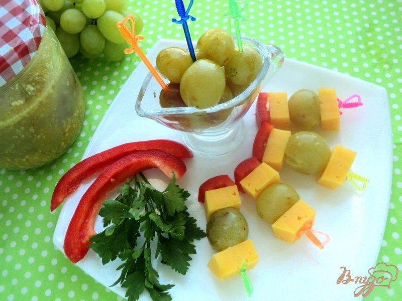 Фото приготовление рецепта: Гроновица (моченый виноград) шаг №6