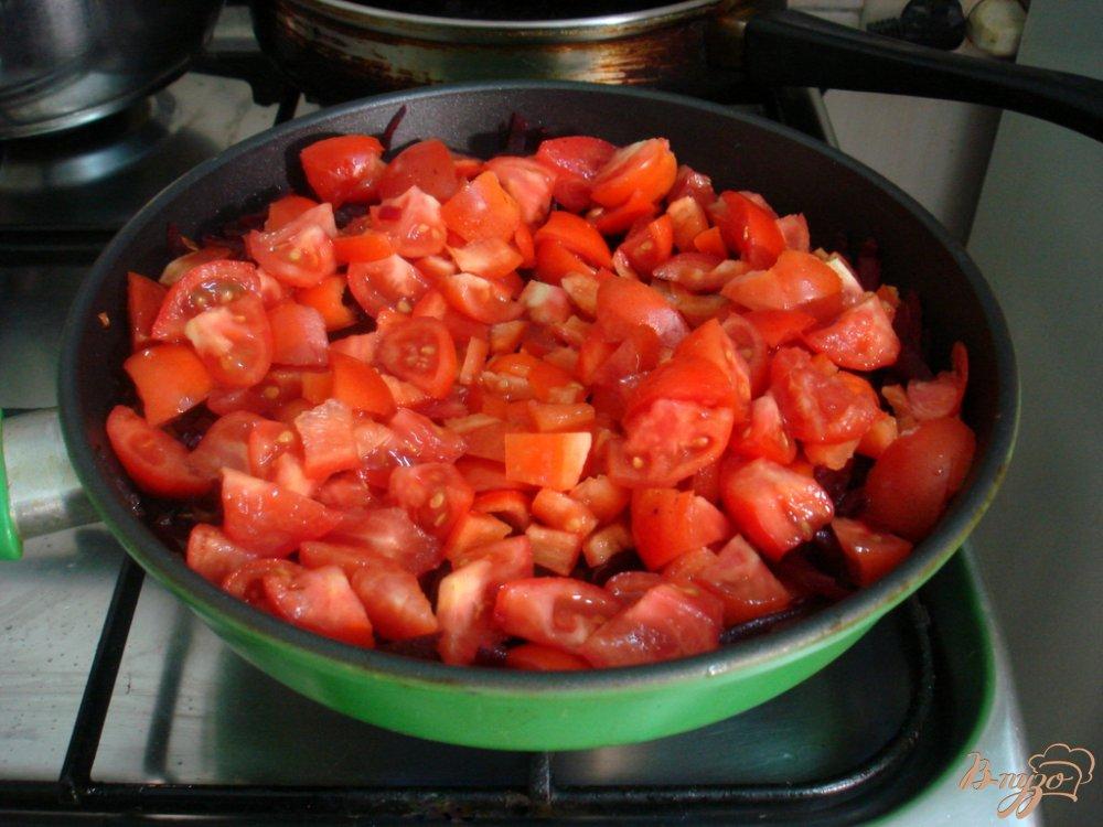 Фото приготовление рецепта: Борщ без капусты с перцем шаг №6