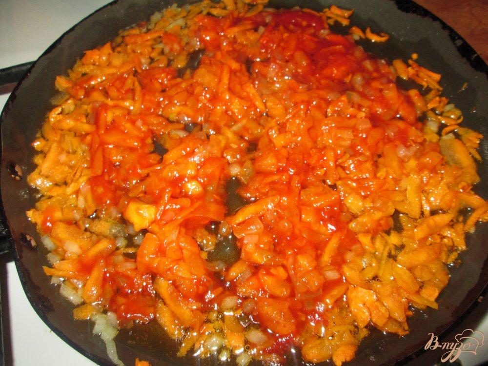 Фото приготовление рецепта: Быстрый суп с сосисками шаг №3