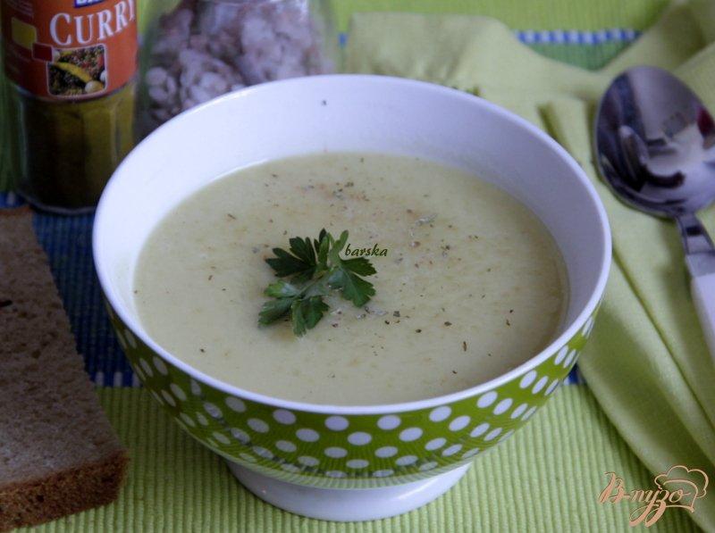 Фото приготовление рецепта: Суп-пюре из цуккини с карри шаг №7