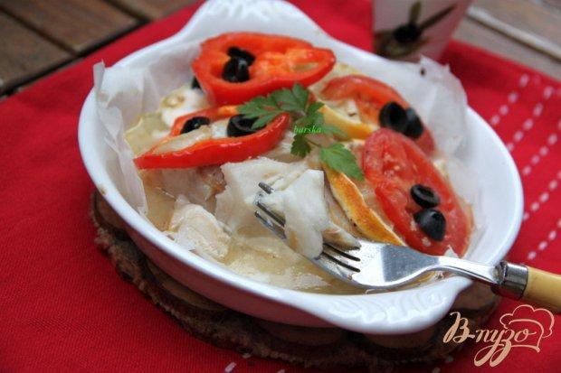 Треска с овощами в пергаменте