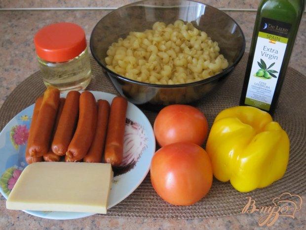 Колбаски с пастой и пармезаном